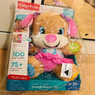 ~Ready Stock~ Fisher-Price Laugh & Learn Smart Stages Sis Puppy Plush dog