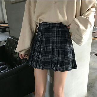 Instock Ulzzang Checkered Skirt