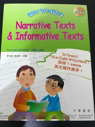 How to write narrative texts& informative texts