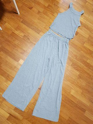 Brand New Comfortable Grey Top and Long Pants (One Set)