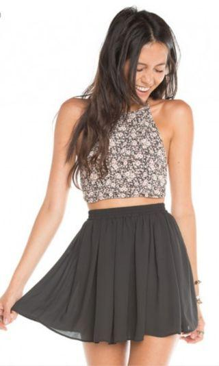 BN Brandy Melville Black Chiffon Skirt