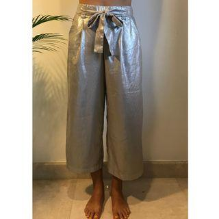 Silver party trousers