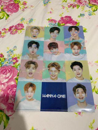 WANNA ONE UNOFFICIAL PAPER FILE FOLDER