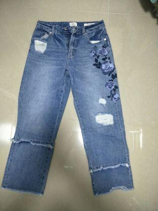 Mid straight jeans