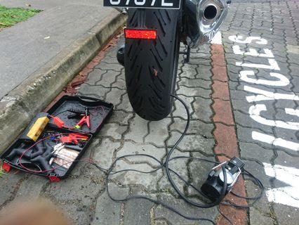 BMW tyre patching / onsite tyre rescue / onsite mechanic