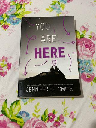 Buku novel impor ' You Are Here ' oleh Jennifer E. Smith