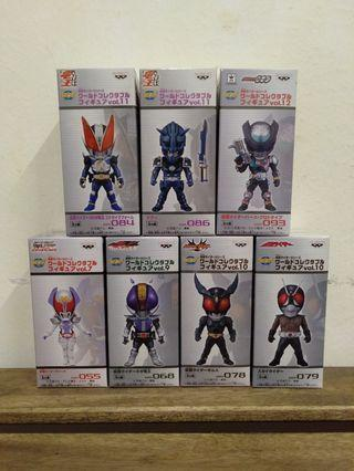 WCF World Collectibles Figure Kamen Rider series set of 7