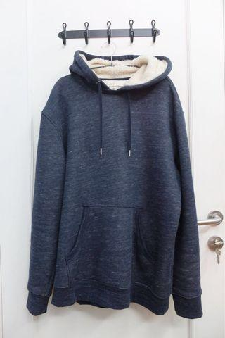 Jaket Hoodie Pullover H&M Blue Navy Mint Condition
