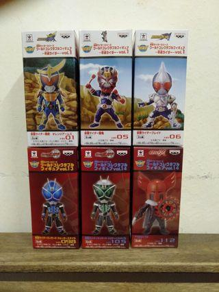 WCF World Collectibles Figure Kamen Rider series set of 6