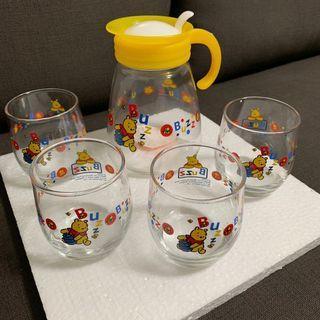 🚚 維尼玻璃杯組