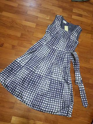 Elita Checkered Dress with Tag