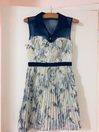 Beautiful Made in Canada lace pleated dress by Pink Martini