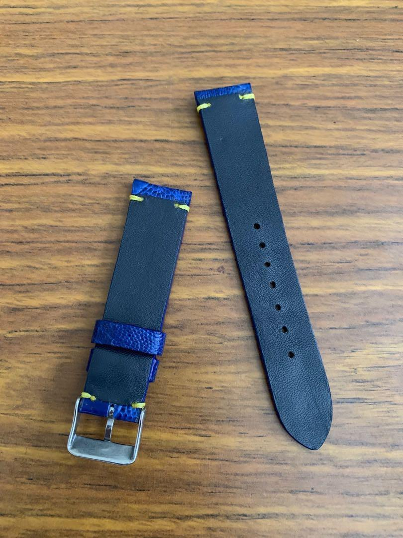 20mm/18mm Authentic Royal Blue Ostrich Leg Watch Strap #MRTHougang #MRTSerangoon #MRTSengkang #MRTPunggol #MRTRaffles #MRTBedok #MRTTampines #MRTCCK  #MRTYishun