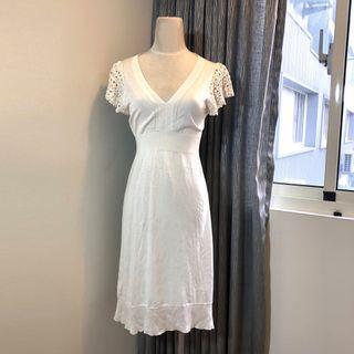 🚚 BCBG Max Azria 白色針織洋裝