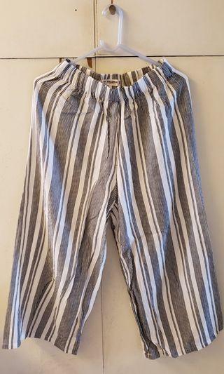 Paul & Bear Pants Trousers 直間綿麻褲