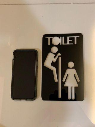 🚚 Toilet sign