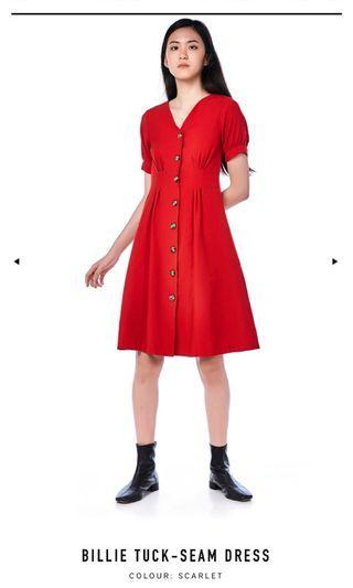 BN TEM Billie Tuck-Seam Dress