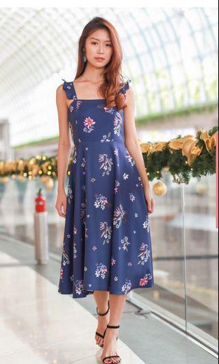 BNIBWT montifs heather floral flare dress