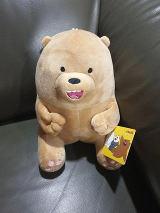 🚚 We Bare Bear Grizzly Plushie