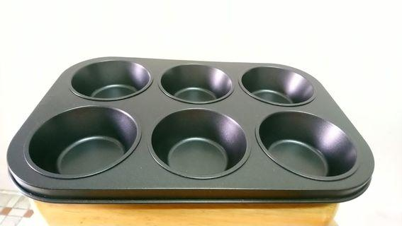 Non-stick muffin cupcake mould / 6連杯子蛋糕模