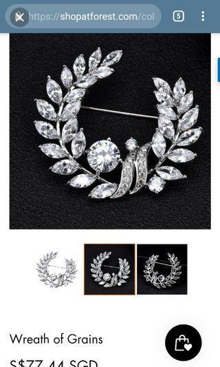 🚚 Cubic Zirconia gemstones Brooch