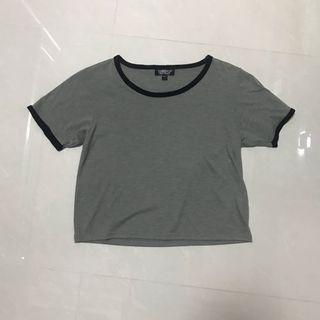 Topshop Grey Crop Top