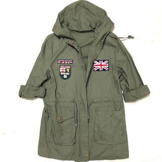 [BN] Army Green Trench Coat