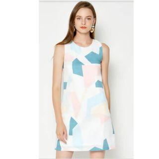 🚚 BN Love and Bravery Sadia Geometric Printed Dress
