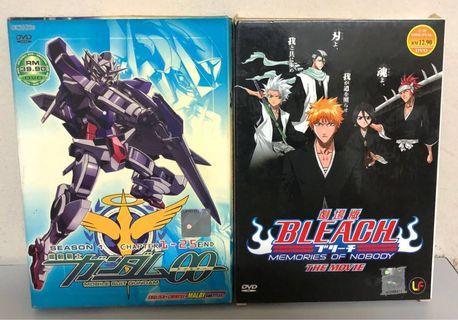 Gundum 00 & Bleach movie dvd collection