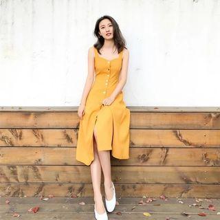 New Yellow Midi Dress