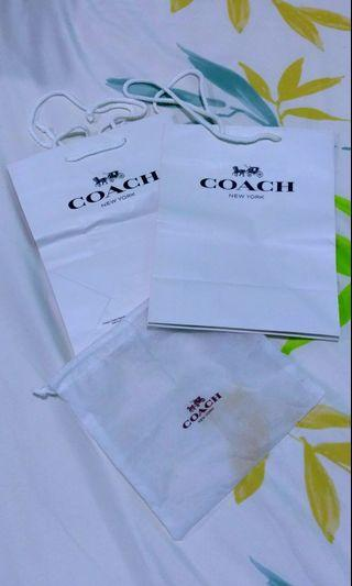 Coach original dustbag and paperbag