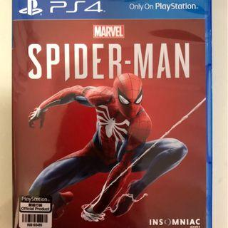 100% 全新未開封 Spider-man 蜘蛛俠 Spiderman 蜘蛛人 PS4 Sony Marvel Avenger 中英文合版 Avengers