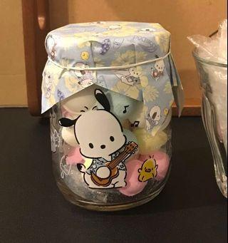 Sanrio 日版 Pochacco PC狗 玻璃樽 玻璃罌 連糖果