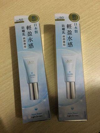 全新 olay防曬 aqua sheer sunscreen