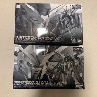 Justice & Strike Freedom Rg Gundam Deactive Pbandai Gunpla