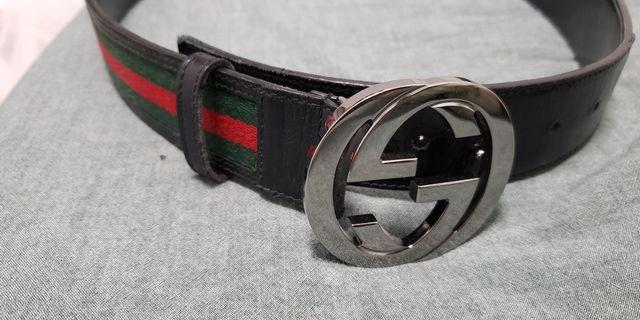 Gucci double g logo belt mens monogram