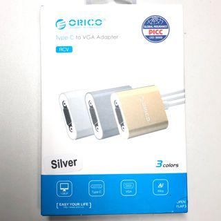 [BNIP] Orico Silver Type C to VGA Adaptor (for MacBook Pro, MacBook Air and many more)