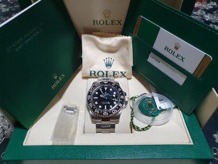ROLEX GMT Master ll 116710LN (Discontinued Model)