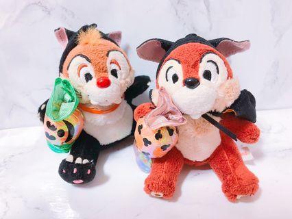 🚚 日本東京迪士尼 萬聖節 奇奇蒂蒂 絕版系列吊飾娃娃