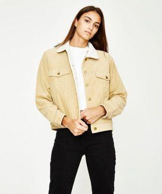 Insight Tan Cord Fur Lined Jacket