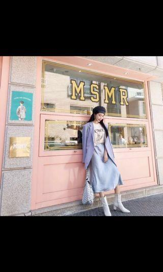 正韓緞面洋裝穿一次送洗過囉!