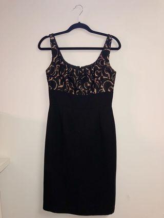 Black & Nude Body Con dress