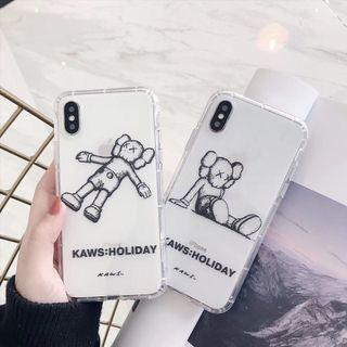 IPHONE CASINGS: KAWS CASE HOLIDAY TRANSPARENT CLEAR CASE