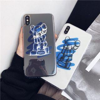 IPHONE CASINGS: KAWS CASE CLEAR TRANSPARENT BLUE HIGHLIGHT