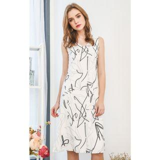 BNWT The Stage Walk Fendi Scribbles Midi Dress