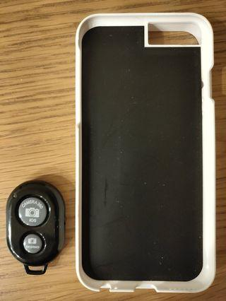 🚚 IPhone 6s 手機壳+自拍棒 近全新