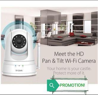CCTV IP Cam Wireless HD PTZ Day/Night Smart IP Camera (Wide Angle) with Installation Services