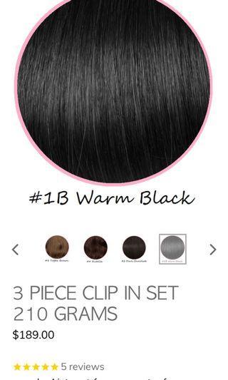 Catwalk hair extensions 3 piece warm black 20inch