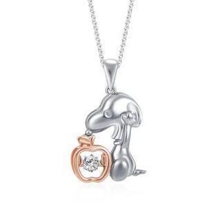 SK Jewellery snoopy dancing diamond pendant