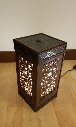 Oriental Wooden Table Lamp